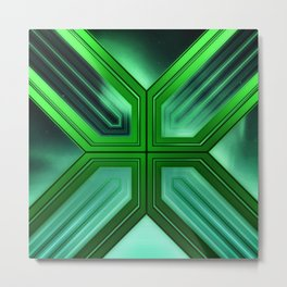 Futuristic Geometric Metal Print