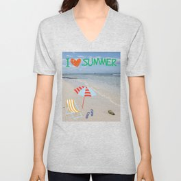 I love Summer Unisex V-Neck