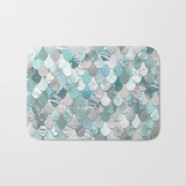 Mermaid Aqua and Grey Bath Mat