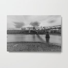 St Paul's and Millennium Bridge Metal Print