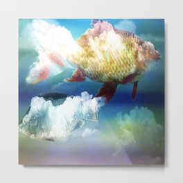 Fish Clouds Metal Print