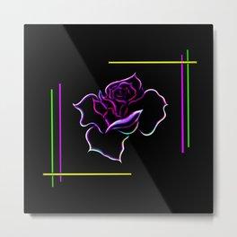 Flowermagic - Rose Metal Print