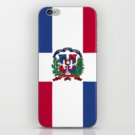 Dominican Republic flag emblem iPhone Skin