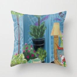 Garden room Throw Pillow
