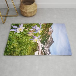 High Country Summer Wildflowers Crested Butte Colorado Mountain Landscape Rug