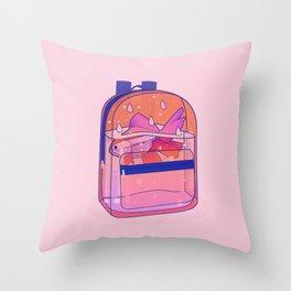 Schoolbag Aquarium  Throw Pillow
