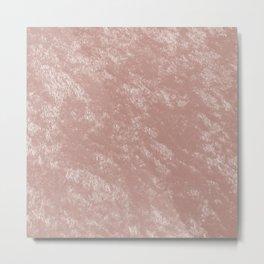 Soft rose gold velvet Metal Print