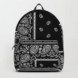 Classic Black Bandana Backpack