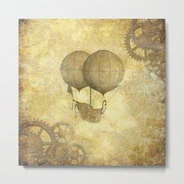Steampunk Balloon  Metal Print