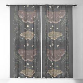 Saturnia Pavonia Sheer Curtain