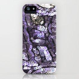 Lavender Silver Black Sequin iPhone Case