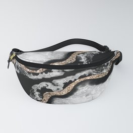Yin Yang Agate Glitter Glam #8 #gem #decor #art #society6 Fanny Pack