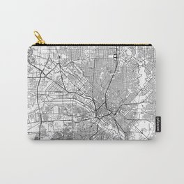 Dallas White Map Carry-All Pouch