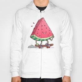 Watermelon Slice Skater Hoody