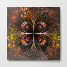 Autumn Forest - Fractal Artwork Metal Print