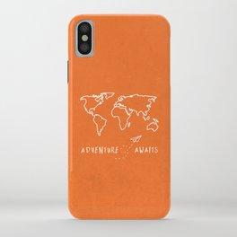 Adventure Map - Retro Orange iPhone Case