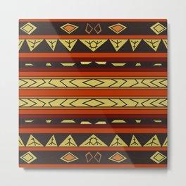 ethnic background folk africans endless pattern Metal Print