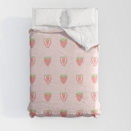 Half Strawberry Pattern Comforters