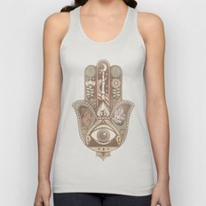 Hamsa Hand Faded Colour Unisex Tank Top