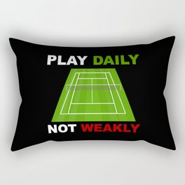 Tennis Tennis Match Tennis Balls Tennis Racket Rectangular Pillow