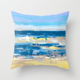 Wave. Beach Painting Series No.11 Throw Pillow