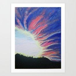 Sunset Supernova Art Print