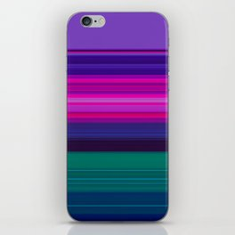 Vibrant Purple Pink and Green Stripes iPhone Skin