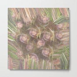 Framed Roses Metal Print