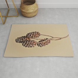 Little pine cones from Alder tree - Minimal Photography Rug