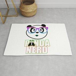 Panda Nerd Girl - Rainbow Rug