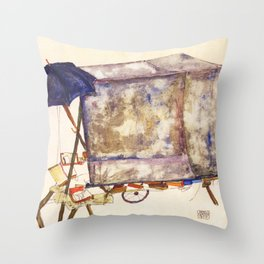 Egon Schiele - Street cart (new editing) Throw Pillow