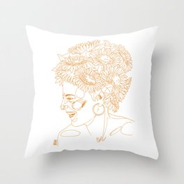 Sunflowers in my head Throw Pillow