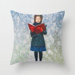 Shirley Temple Christmas Throw Pillow