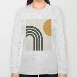 Mid century modern Sun & Rainbow Long Sleeve T-shirt