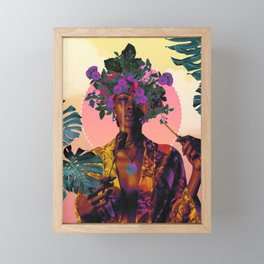 Flower Goddess Framed Mini Art Print