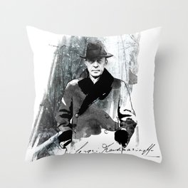 Rachmaninoff Throw Pillow