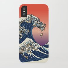 The Great Wave of Pug iPhone X Slim Case
