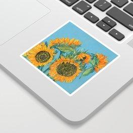 Birthday Sunflowers Sticker