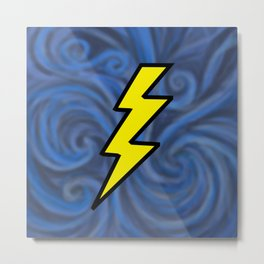Lightning Swirl Metal Print