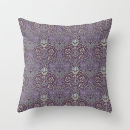 Blueberries and Spoon Throw Pillow