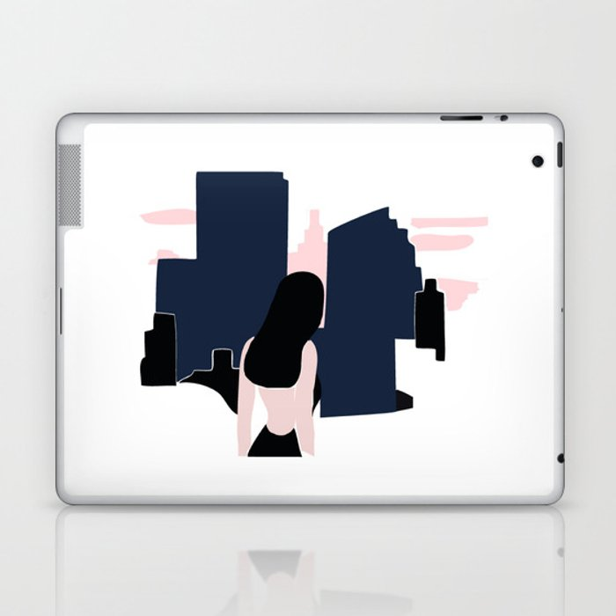 City girl Laptop & iPad Skin