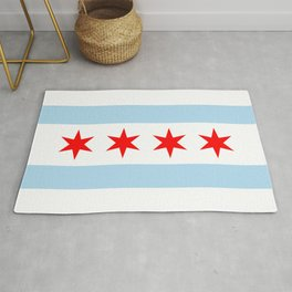 Chicago Flag Rug