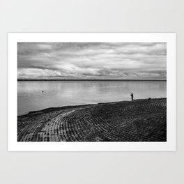 The fishing shadow Art Print
