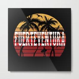 Fuerteventura Palm Trees Holiday Motif Gift Idea Metal Print