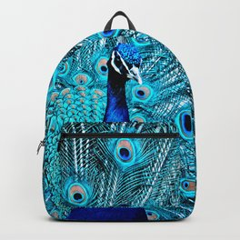 Peacock  Blue 11 Backpack