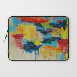 VANCOUVER RAIN - Stunning Rainbow Colorful Bold bright Rain Clouds Stormy Day Wow Abstract Painting Laptop Sleeve