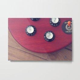 Guitar Dials Metal Print