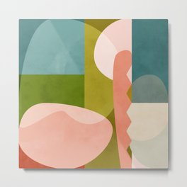 shapes geometry art mid century Metal Print