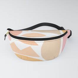 Poetic nature and rainbow 1. Peachy Pastels Fanny Pack