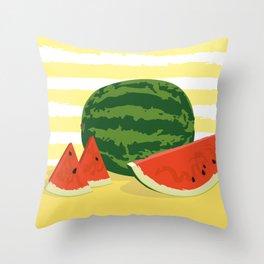 Ripe watermelon Throw Pillow